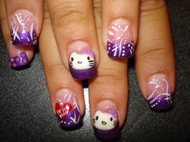The Exciting Hello kitty nail art Images